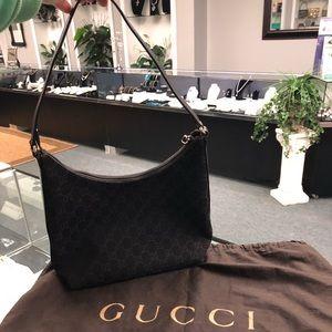 Gucci Bag Monogram Canvas Hobo